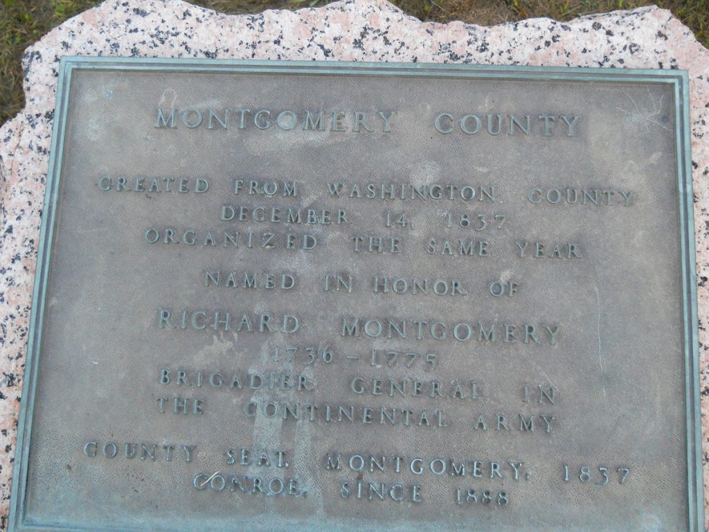 Montgomery County Historical Marker